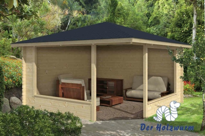 pavillon-für-garten-holz-und-lounge-möbel