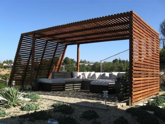 Moderne pergola ber 70 modelle zum erstaunen for Garten lounge design