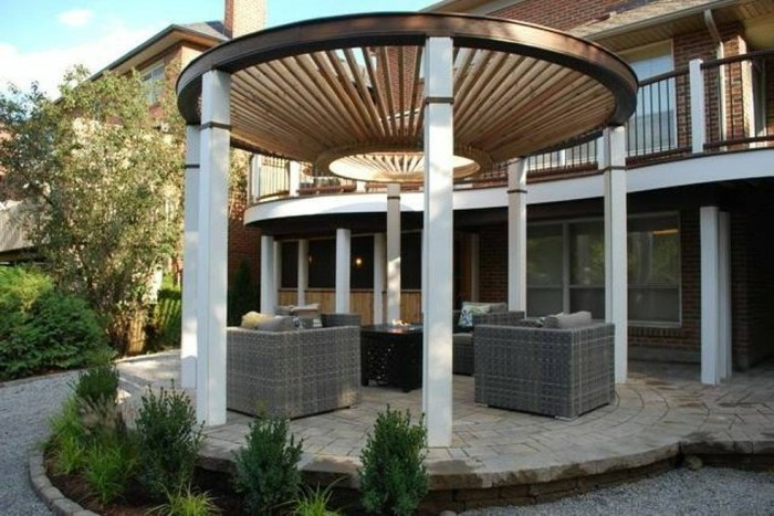 moderne pergola ber 70 modelle zum erstaunen. Black Bedroom Furniture Sets. Home Design Ideas