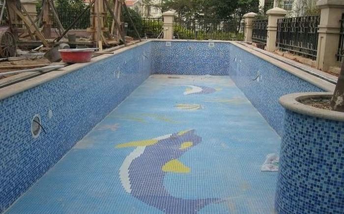 Pool mit fliesen for Folie fur pool