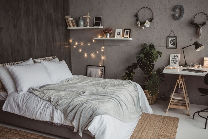 schlafzimmer 12 qm einrichten schlafzimmer einrichten wohnungsideen bett schreibtisch grau weiß
