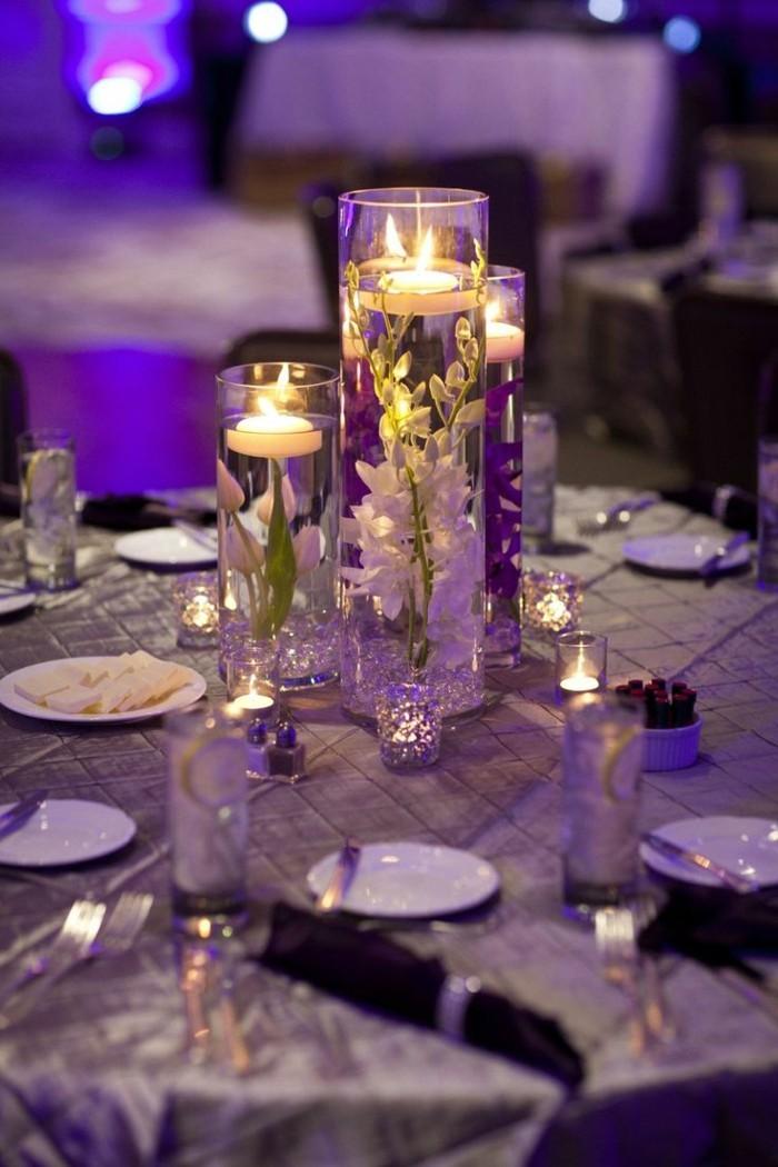 tischdeko-lila-tolle-idee-für-lila-dekoration