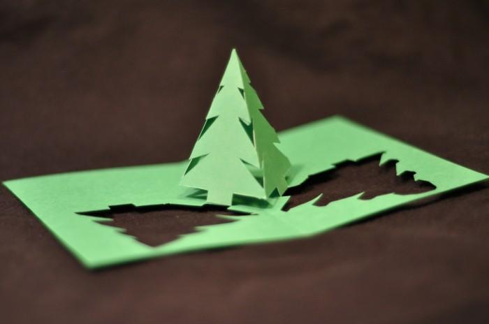 Weihnachtskarten Origami.Kreative Bastelideen Für Weihnachtskarten Archzine Net