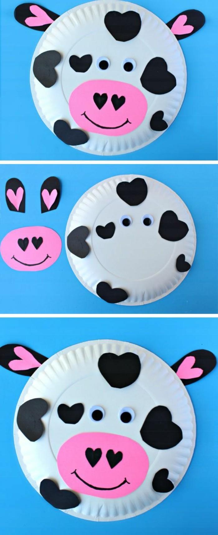 Basteln-zu-Karneval-eine-süße-Kuh