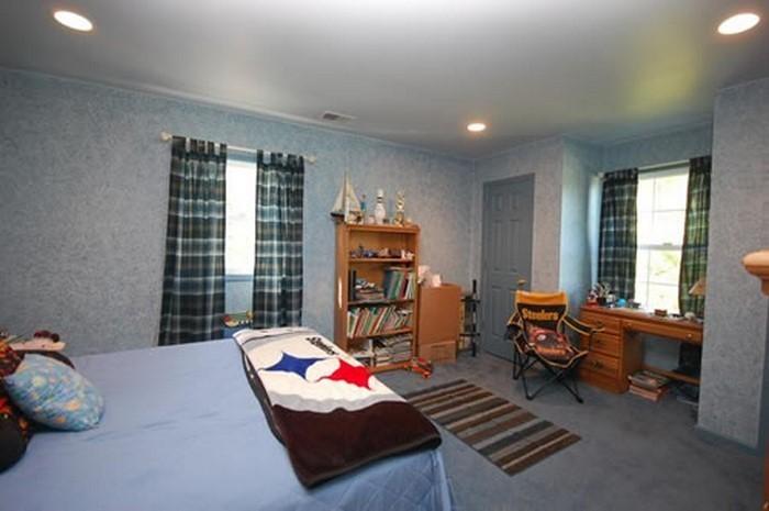 Wandgestaltung Kinderzimmer in Blau:Eine auffällige Deko