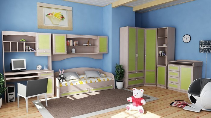 frische farben f rs kinderzimmer 70 wohnideen in blau. Black Bedroom Furniture Sets. Home Design Ideas