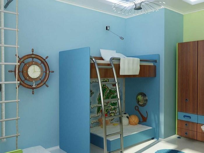 Frische farben f rs kinderzimmer 70 wohnideen in blau - Moderne kinderzimmer farben ...