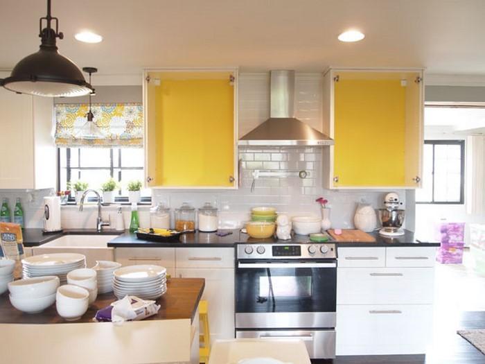 farben fuer die kueche gelb ein tolles interieur - Kueche Ideen Mit Gelber Farbe