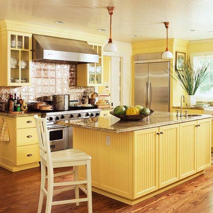 frische farben f r die k che 58 wohnideen in gelb. Black Bedroom Furniture Sets. Home Design Ideas