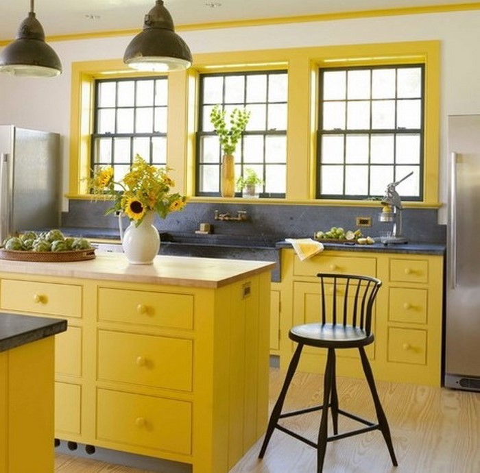 Küche In Gelb