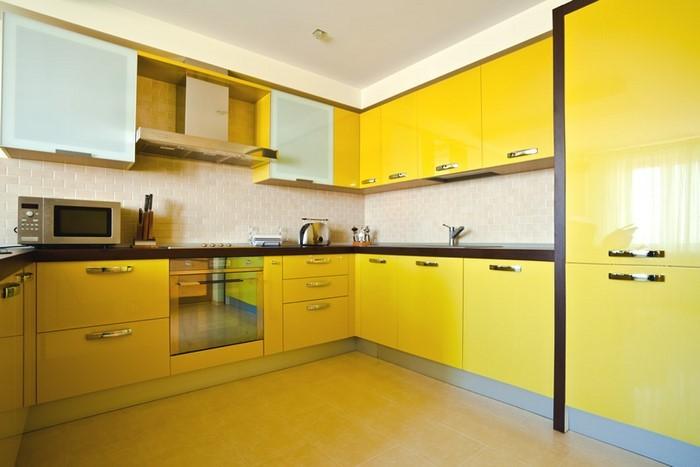 Küche einrichten in Gelb Eine wunderschöne Entscheidung