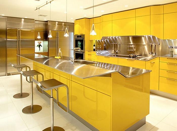 Warme Farben Fur Die Kuche : Küchengestaltung in Gelb Eine verblüffende Entscheidung