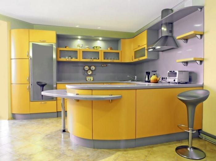 farben-fuer-die-kueche-gelb-eine-auffaellige-gestaltung