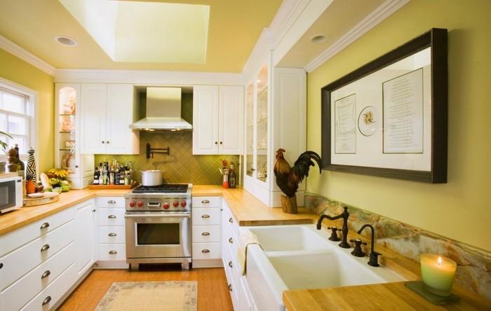 warme farben kuche ~ speyeder = verschiedene ideen für die, Wohnideen design