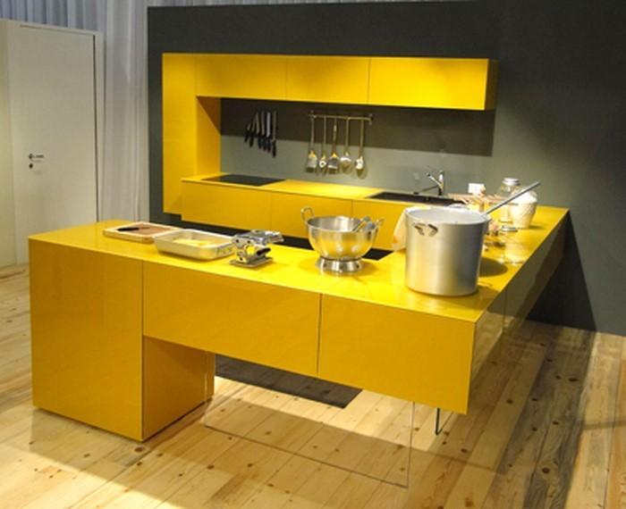 farben-fuer-die-kueche-gelb-eine-kreative-ausstrahlung