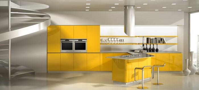 farben-fuer-die-kueche-gelb-eine-moderne-dekoration