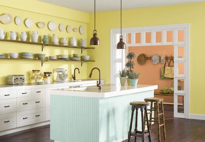 Warme Farben Fur Die Kuche : 44  Wandfarben Fur Kuche  Frische Farben für die Küche eine
