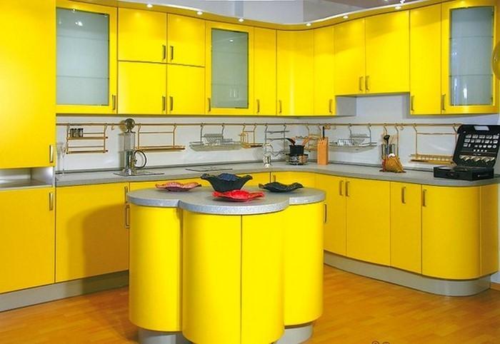 Warme Farben Fur Die Kuche : Küchengestaltung in Gelb Eine außergewöhnliche Еinrichtung