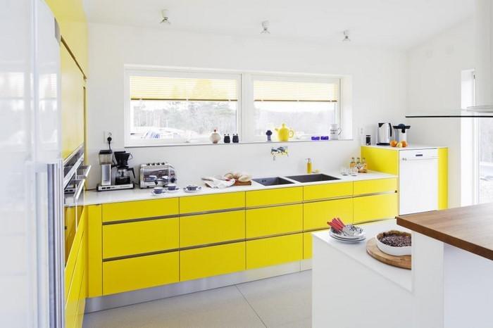Küche einrichten in Gelb Eine wunderschöne Еinrichtung
