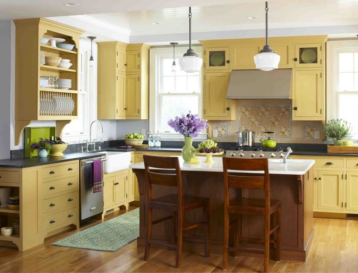 Warme Farben Fur Die Kuche : Küchen Ideen in Gelb Eine verblüffende Еinrichtung