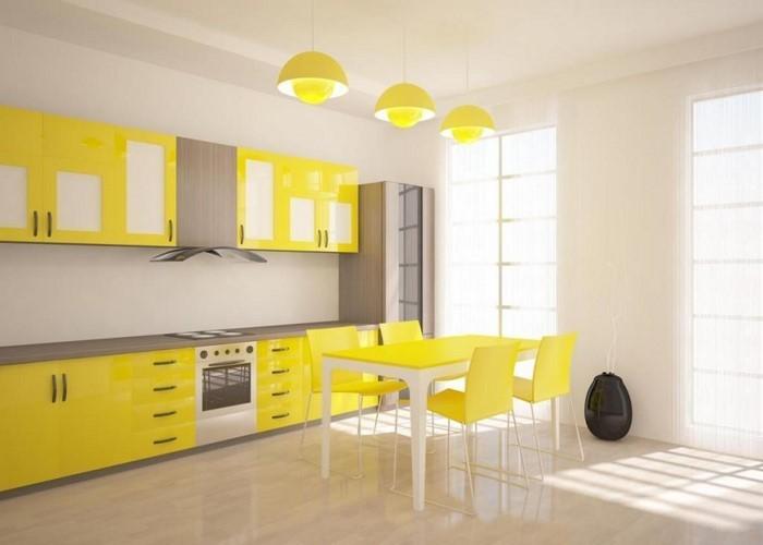 farben-fuer-die-kueche-gelb-eine-verblueffende-einrichtung