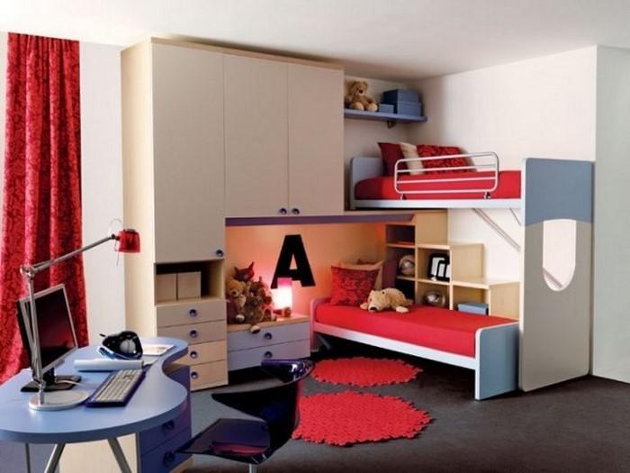 farben-fuers-kinderzimmer-rot-ein-auffaelliges-design