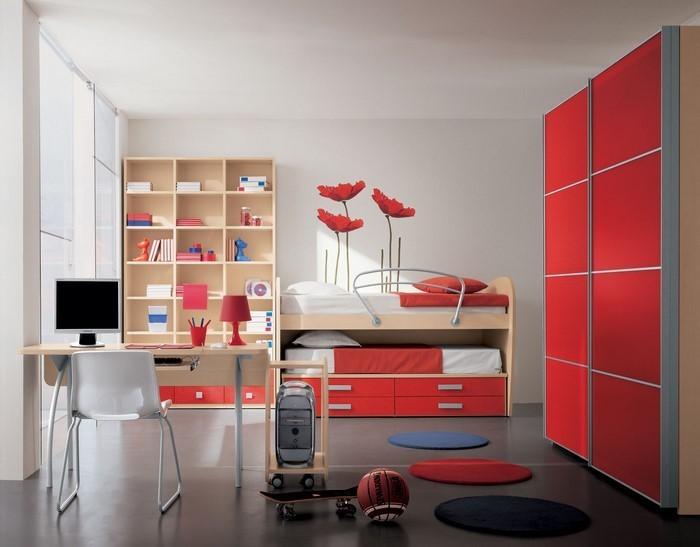 farben-fuers-kinderzimmer-rot-ein-auffaelliges-interieur