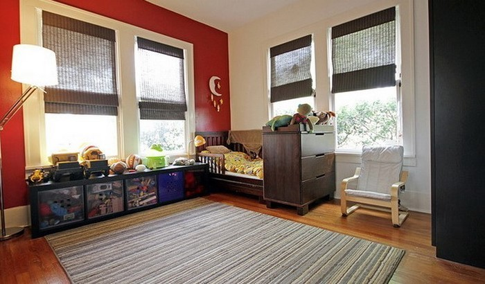 frische farben fürs kinderzimmer: 70 wohnideen in rot!, Hause deko