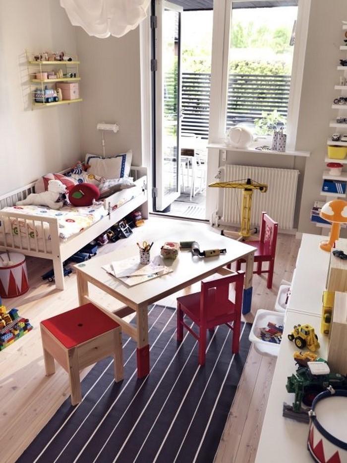 Wandgestaltung Kinderzimmer in Rot: Eine moderne Еinrichtung