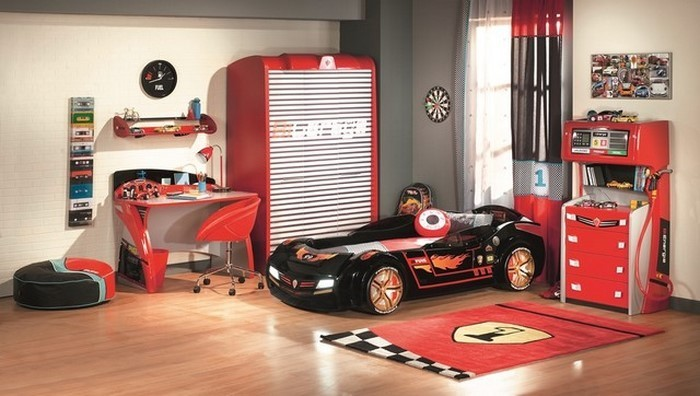 Wandgestaltung Kinderzimmer In Rot Eine Außergewöhnliche U003eu003e Wandgestaltung  Kinderzimmer Rot