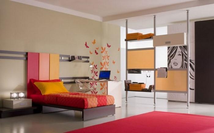 Kinderzimmer Wandgestaltung in Rot: Eine wunderschöne Ausstattung
