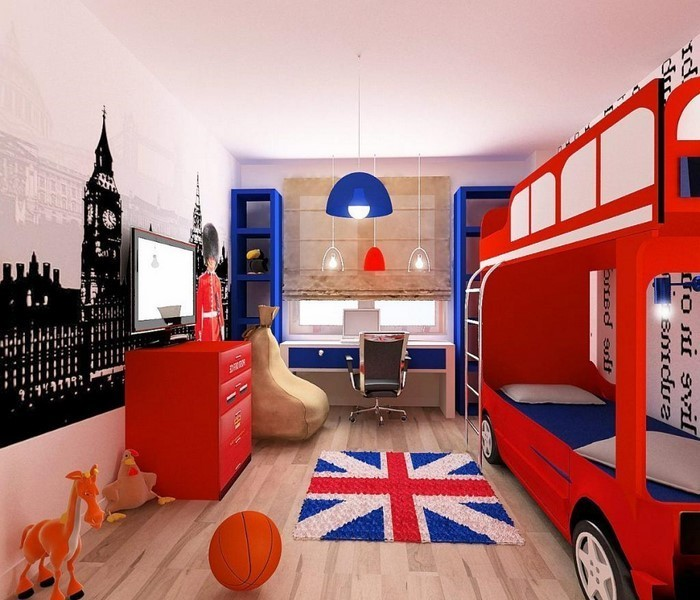 wandgestaltung kinderzimmer rot verschiedene ideen f r die raumgestaltung. Black Bedroom Furniture Sets. Home Design Ideas