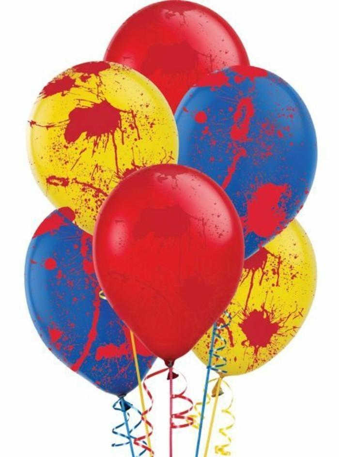 Fasching-Deko-basteln-mit-Ballonen