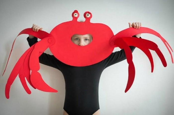 Faschingsmasken-basteln-wie-eine-Krabbe