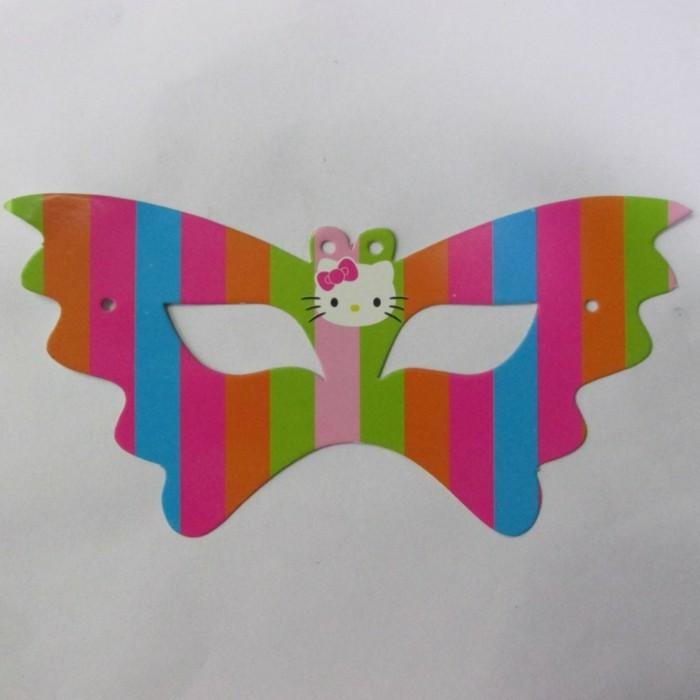 Kindermasken-basteln-miш-Hello-Kitty