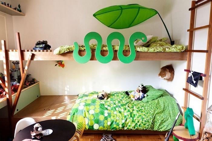 kinderzimmer-ideen-gruen-ein-auffaelliges-design