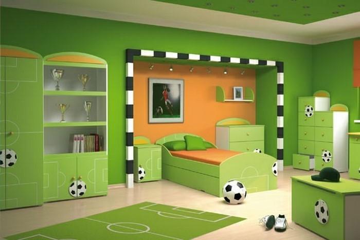 kinderzimmer-ideen-gruen-ein-auffaelliges-interieur