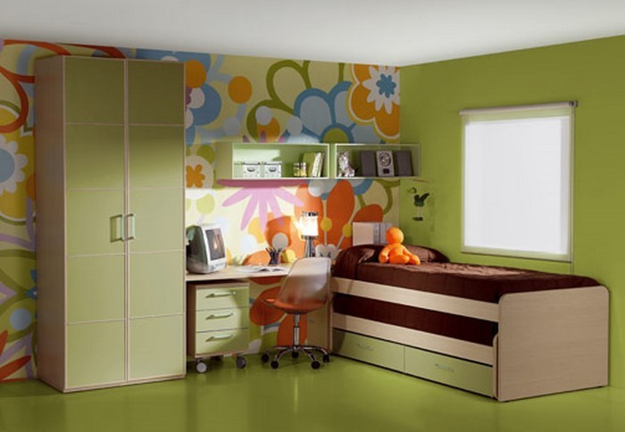 77 verbl ffende kinderzimmer ideen mit gr n. Black Bedroom Furniture Sets. Home Design Ideas