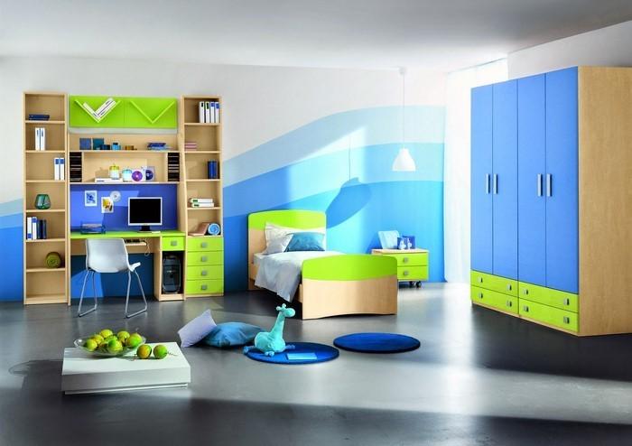 kinderzimmer-ideen-gruen-ein-cooles-design