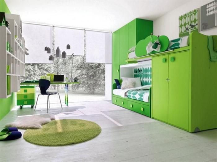 kinderzimmer-ideen-gruen-ein-modernes-interieur