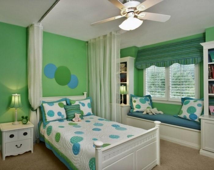 Kinderzimmer gestalten in Grün: Eine tolle Dekoration