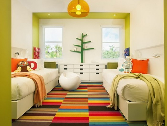 77 verblüffende kinderzimmer ideen mit grün - Kinderzimmer Grun Orange
