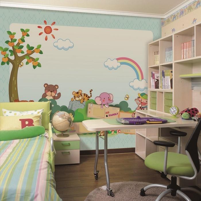 kinderzimmer-ideen-gruen-eine-auffaellige-dekoration