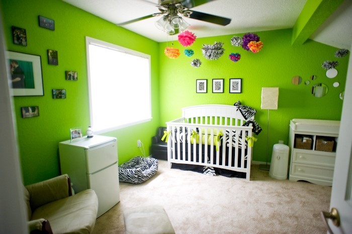 babyzimmer ideen gr n. Black Bedroom Furniture Sets. Home Design Ideas
