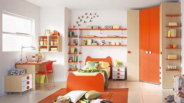 kinderzimmer-orange-ein-auffaelliges-design