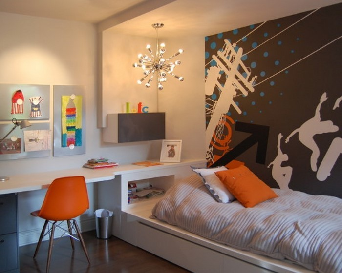 kinderzimmer-orange-ein-cooles-interieur