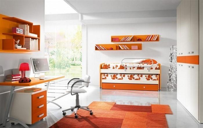 kinderzimmer-orange-eine-auffaellige-ausstattung