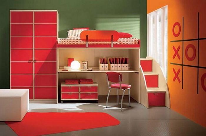 kinderzimmer-orange-eine-auffaellige-einrichtung