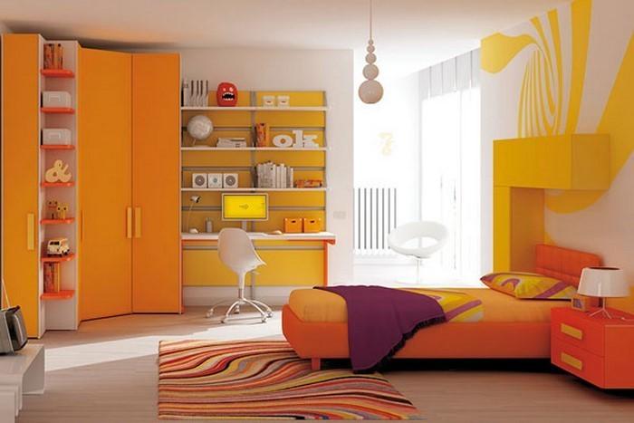 kinderzimmer-orange-eine-auffaellige-entscheidung