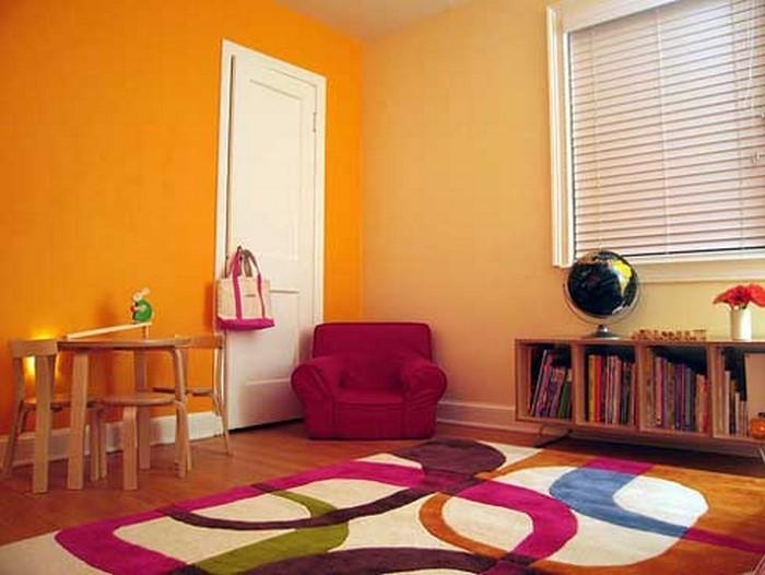 kinderzimmer-orange-eine-coole-ausstrahlung